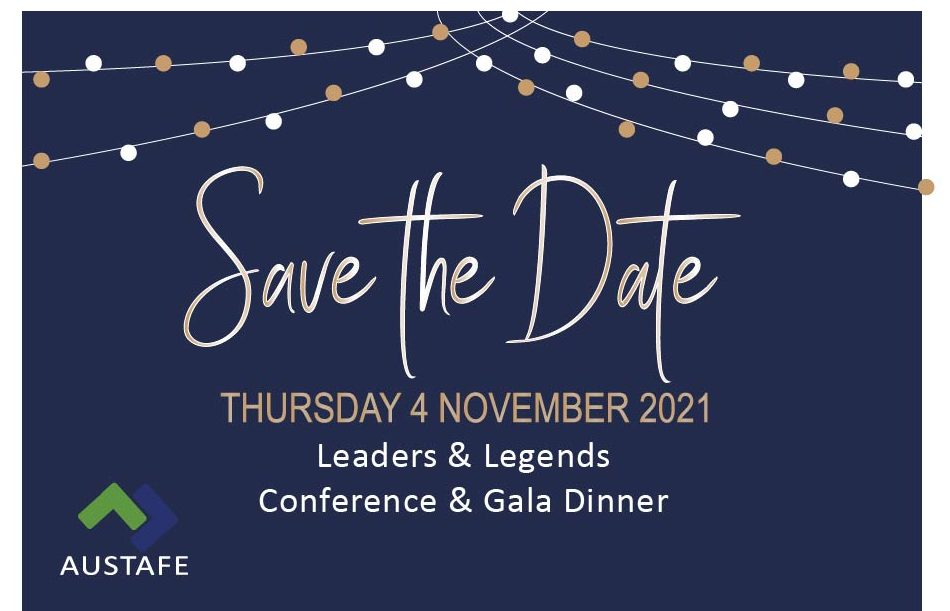 Save the Date - AUSTAFE Queensland Gala Dinner - 4th November 2021